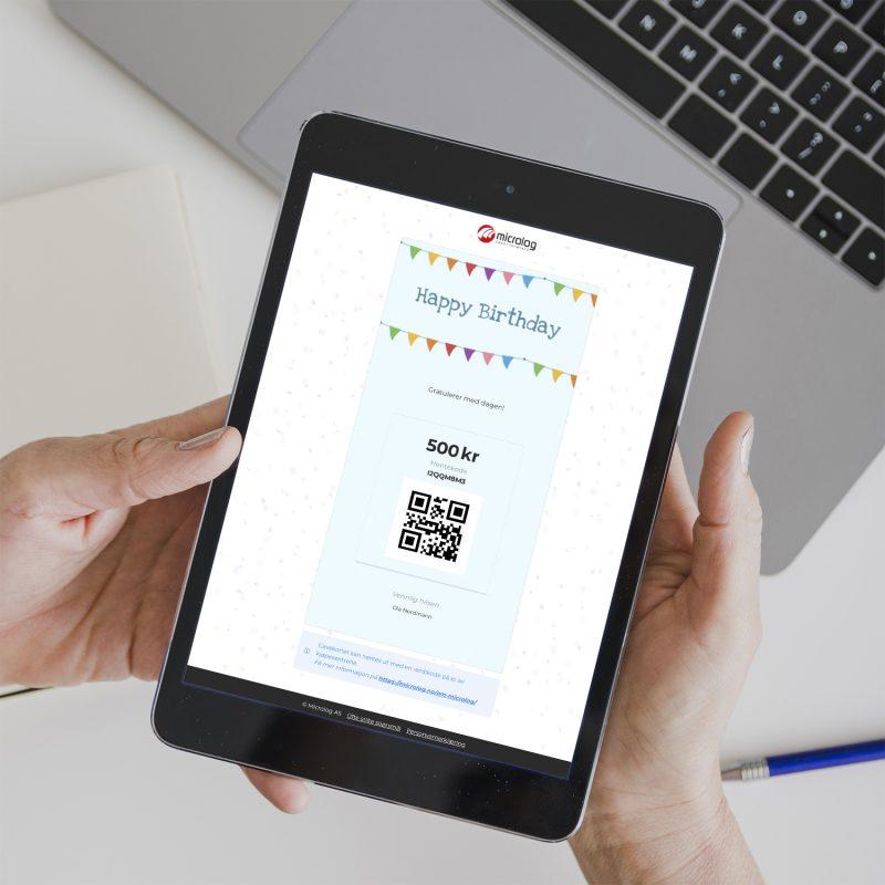 Kjøp gavekort like enkelt på nettbrett eller mobilen...